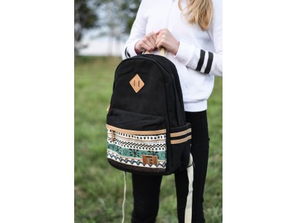 Batoh Canvas TopBags Winter paterrn - Black 17 L
