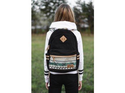 498 12 batoh canvas topbags winter paterrn cerny 16 l
