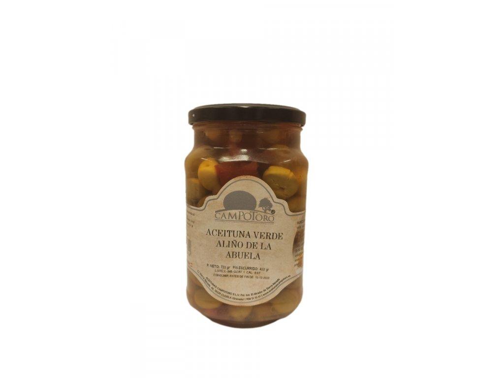 Nakládané olivy dle andaluzské babičky