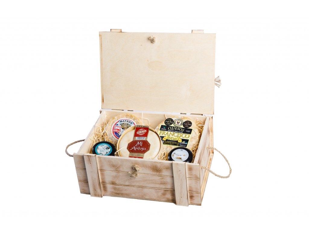 Dárkový box pro milovníký sýrů chuť Extremadury