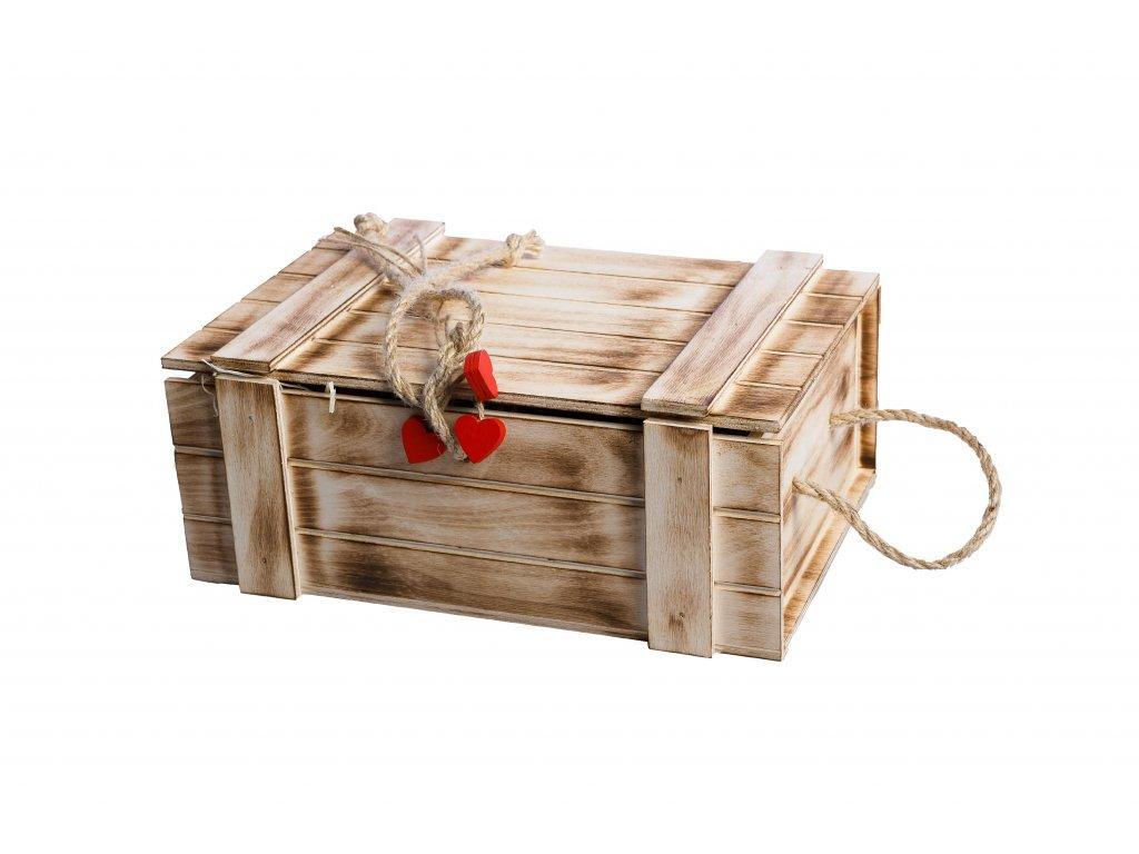 Dřevený dárkový box pro gurmány