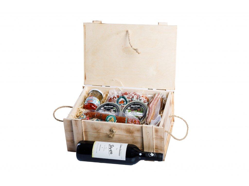 Dřevený dárkový box pro gurmány pikant