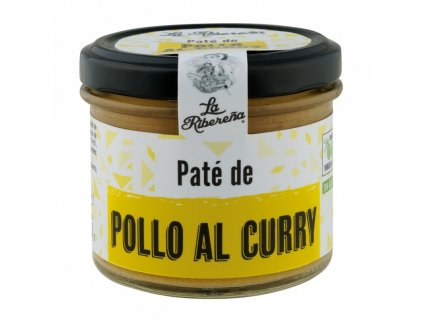 pate de pollo al curry tarro 100