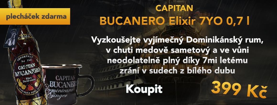 Capitan Bucanero 7YO 0,7l s plecháčkem ZDARMA