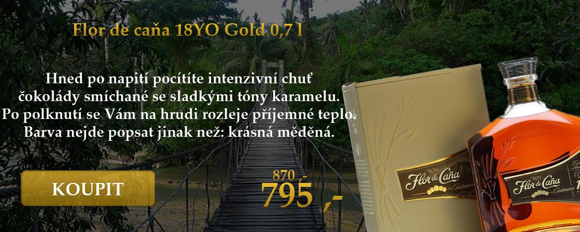Flor de Caňa Gold 18YO 0,7l