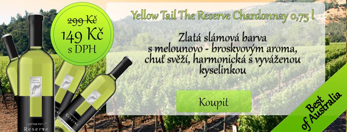 Yellow Tail reserve chardonnay 0,75 l