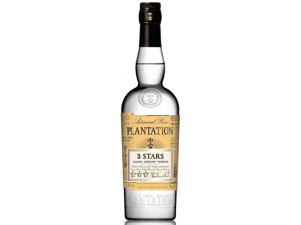 Rum Plantation White 3 stars 0,7 l 41,2% - Topdrink.eu