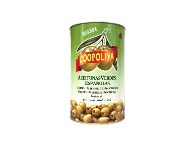 Olivy zelené bez pecky v plechu 4,3 Kg Sevilla
