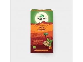 BIO Čaj Tulsi Ginger - bazalka a zázvor sáčkový 25ks Organic India