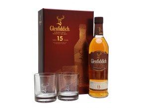 Glenfiddich 15let Solera 0,7 l dárkové balení se skleničkami