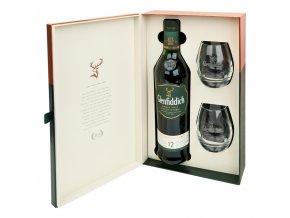 Glenfiddich 12let 0,7 l dárkové balení se skleničkami