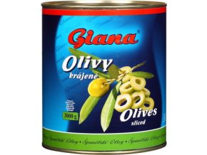 Olivy zelené bez pecky krájené v plechu 3 Kg Giana