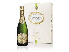 Perrier Jouet Grand Brut se skleničkami 0,75l