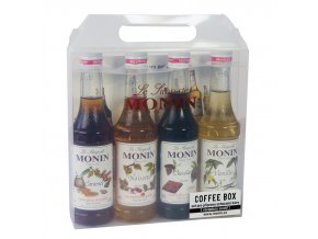 Monin Coffee box 4 x 0,25 l - kávový box velký