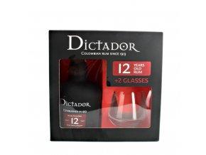 Rum Dictador Solera Premium 12 YO se sklem 0,7 l
