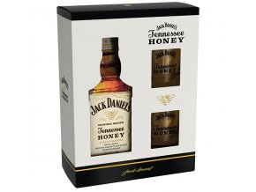Jack Daniels Honey dárkové balení 35% 0,7l + 2x sklenička