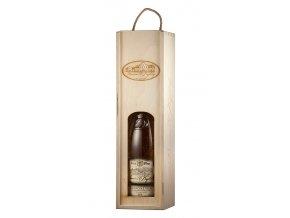 Dřevěný Nosič víko oblouk na 1 láhev Vinařství u Kapličky