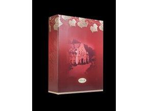 Papírový Nosič červený na 3 láhve vinařství u kapličky