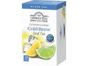 Černý ledový čaj Cold Brew citron limetka 20ks Ahmad Tea