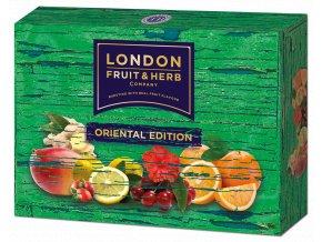 Čaj Oriental edition pack green - směs zelených a ovocno-bylinných čajů zelený box 30 sáčků London fruit and herbs