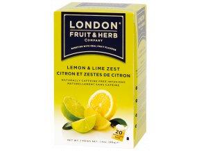 Čaj Lemon Lime Zest - Limetka s citrónem 20 sáčků London fruit and herbs