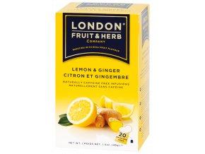 Čaj Ginger and Lemon - zázvor s citrónem 20 sáčků London fruit and herbs