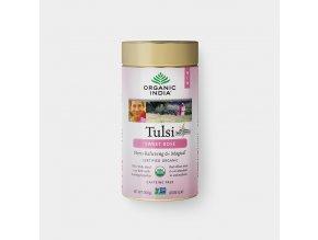 BIO Čaj Tulsi sladká růže - bazalka a květy růže sypaný 100g Organic India