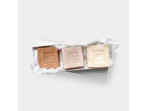 Edice EV mýdel - přírodní ručně vyrobené mýdla bez chemických přísad 3ks EcceVita
