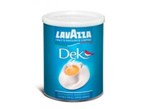 Káva Lavazza Dek - bez kofeinu - mletá 250g dóza