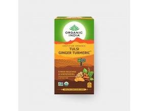 BIO Čaj Tulsi - kurkuma, zázvor 25 sáčků Organic India