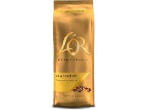 LOR Crema Absolut Classique - zrnková káva 500g Douwe Egberts