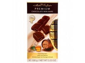 rumova cokolada premium 100g mini chocolate bars