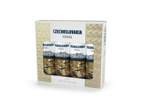 Czechoslovakia vodka mini set 4x0,04 l