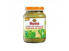 37952 detska vyziva brokolice s celozrnnou ryzi bio 190 g holle