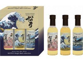 43409 whisky matsui japanese single malt set 3 x 0 2 l