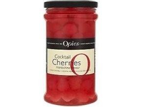 Koktejlové třešně Red Marachino Opies se stopkou 950g