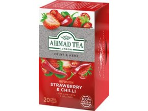 49361 caj fruit and herb strawberry and chilli jahoda s chilli 20x1 8g ahmad tea