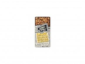 50957 johnny doodle horka cokolada suseny banan a mandle 150 gramu
