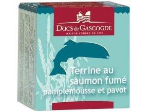 48659 terina z uzeneho lososa s grapefruitem a makem 65g ducs de gascogne