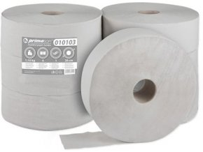 50420 toaletni papir jumbo 1 vrstvy sedy 6 roli prumer 28cm