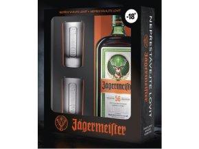 Jagermeister 0,7 l dárkový box se skleničkami