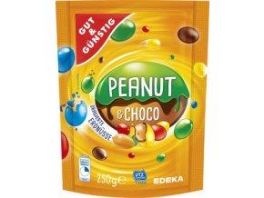 50459 peanut and choco arasidy v barevne cokolade 250g edeka