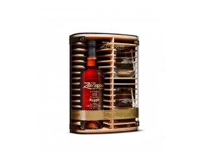 Ron Zacapa Centenario 23 Aňos se skleničkami 0,7 l  Dárkové dřevěné balení