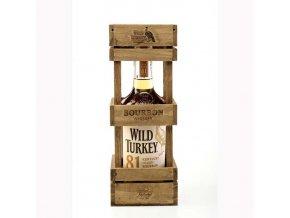 Wild Turkey 81 Proof wooden box 0,7 l