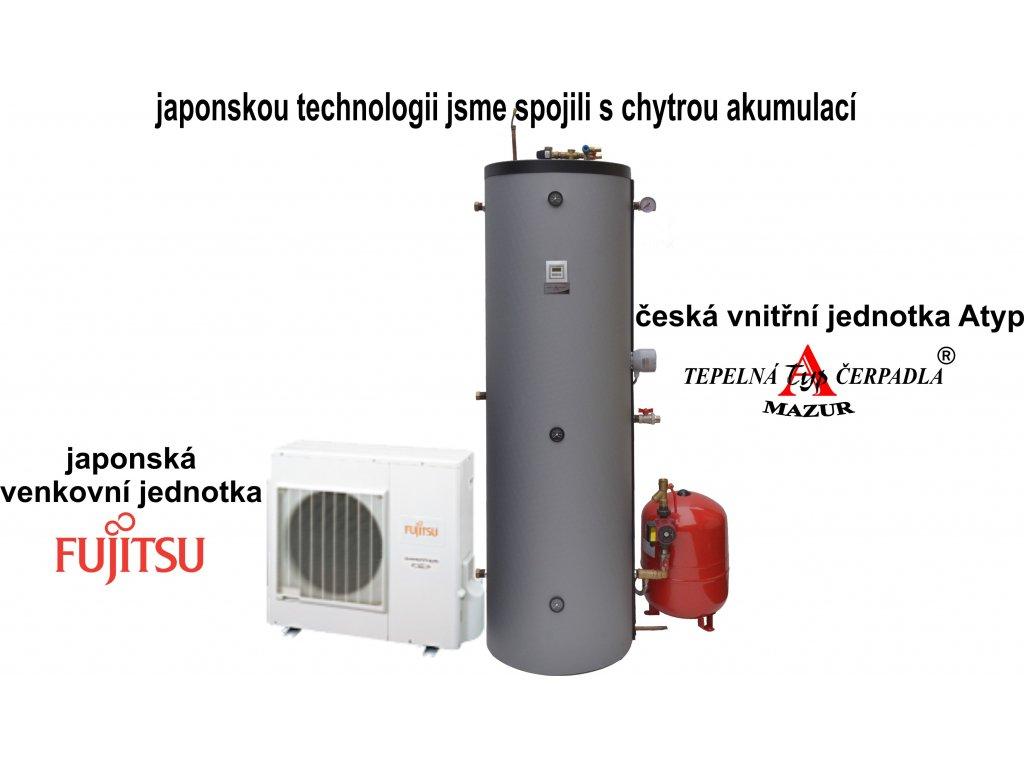 Tepelné čerpadlo vzduch-voda Fujitsu Komfort 6 kW kompletní kotelna