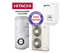 HITACHI Yutaki S 11 24 kW + Hitachi externí 2