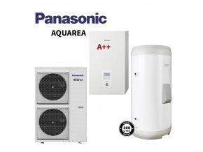 Tepelné čerpadlo PANASONIC Aquarea + externí zásobník