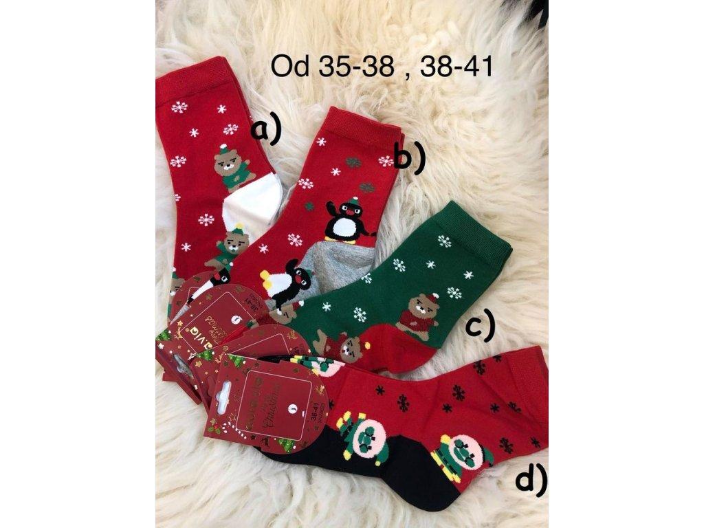 Vánoční ponožky tenké - 4 pack