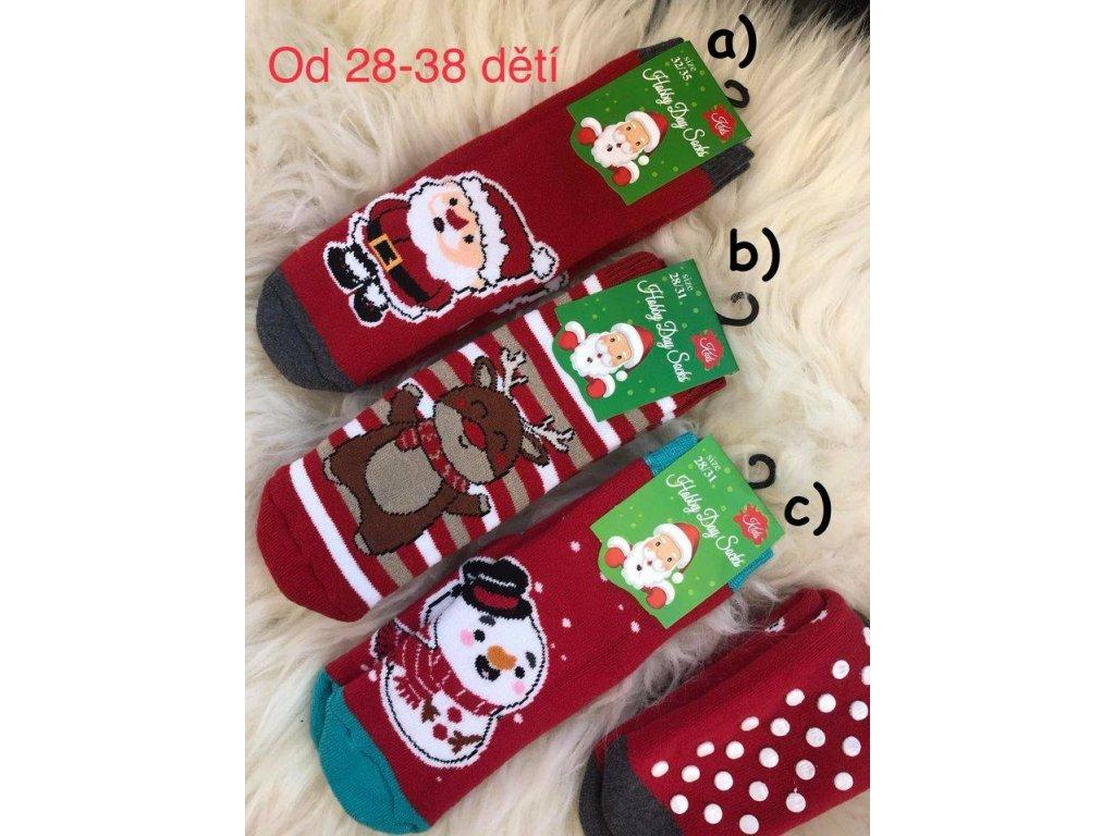 Zateplené ponožky s protiskluzem - 3 kusy v balení