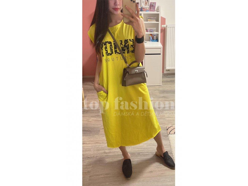 šaty michaela žluté 2